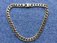 HEAVY GOLD CURB CHAIN. 9K