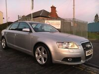 AUDI A6 2.4 S-LINE AUTO 174HP,06 PLATE 2006..77,000 MILES...FULLY DOCUMENTED SERVICE HISTORY !!!