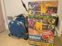 Hozelock pressure washer, garden hose and patio cleaner set