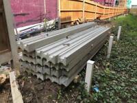 27 Concrete Fence Posts