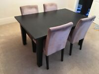 Ikea Black Table and Next Chairs
