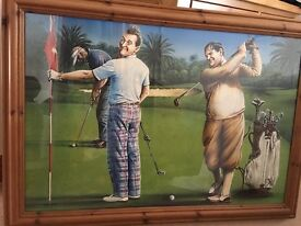 Golfing Picture of Laurel & Hardy