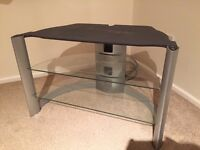 TV stand , modern design , silver best suit 32in TV