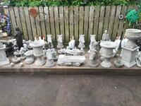 Large selection of stone ornaments
