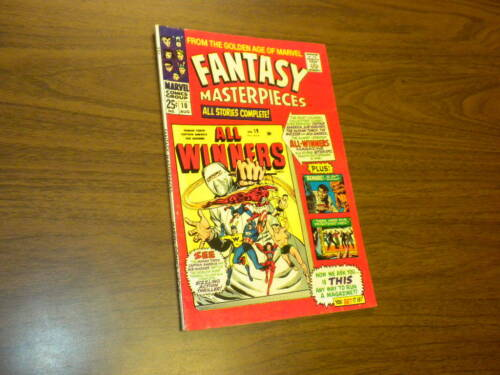FANTASY MASTERPIECES #10 Marvel Comics 1967 Timely Captain America Torch Subby