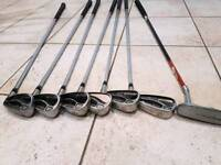 Nicklaus golf clubs and putter