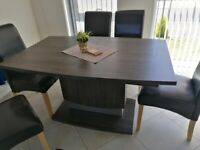Dining table with 6 chair sets