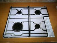 Candy 4 x Burner Gas Hob. White enamel finish 600mm wide by 510mm deep