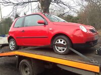 2001 Volkswagen Lupo 1.0 E red AUC ESY LP3G BREAKING FOR SPARES