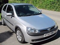CORSA 1.2 SXI, 2003, LOW INSURANCE, 50 MPG, VGC, LONG MOT NO ADVISORIES, ANY PART-EXCHANGE WELCOME