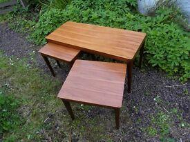 1970s Teak Coffee Table - Nest of Three