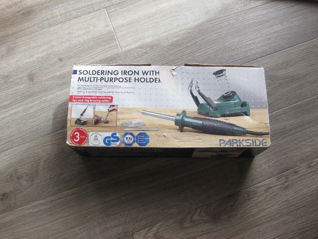 Soldering Iron With Multi Purpose Holder with original box