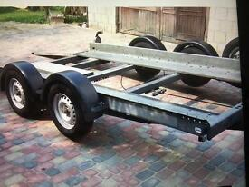 Brain James twin axle trailer