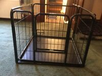 Puppy/small dog pen. Excellent condition. Sturdy metal. Folds flat for carriage and storing.