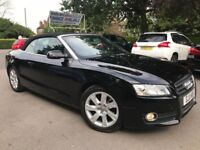FINANCE £159 PR MONTH 2011 AUDI A5 SE TFSI 211 BHP CONVERTIBLE 2.0 PETROL 1 PREV OWNER 2 KEYS BLACK