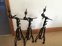 Mapex Armoury Black Drum Hardware, Cymbal Stands and Hi Hat Stand