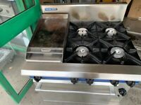 GAS COOKER +GRILL + OVEN CATERING COMMERCIAL KITCHEN FAST FOOD RESTAURANT TAKE AWAY