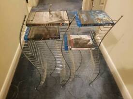Floorstanding DVD and game storage rack