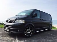 VW Transporter T5 LWB 2.5 6 speed Camper Van | FSH | Tailgate | 95K | NO VAT