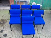7 blue office chairs
