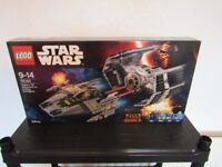 lego star wars - vaders TIE advanced vs A-wing starfighter 75150