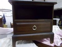 A Stag single drawer bedside cabinet
