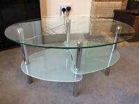 Small glass coffee table / TV stand