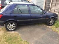 Ford Fiesta extremely low mileage alloy wheels central locking with spare key. Mot Dec 17