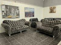 Luxury chesterfield 3 seater and 2 seater sofas