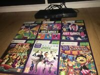 Xbox 360 Kinect with 6 Games as shown in picture