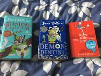 David walliams books. Demon dentist, the boy in the dress, grandpas great escape