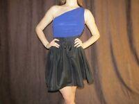 Blue/Black One Shoulder Dress