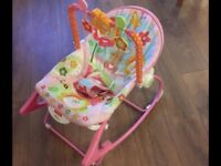 Fisher Price infant to toddler rocker chair with vibration
