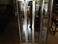Bifold Shower Screen Doors. Satin Gold Finish