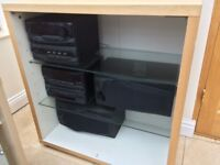 Kenwood 7 disc CD , Radio & twin cassette system plus 2 speakers, 37+ Classical CD's & storage unit