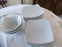 M&S ANDANTE SQUARE 12 Piece Dinner Set
