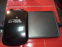 GEORGE FOREMAN HEALTH GRILL AND HOT PLATE. LIKE NEW