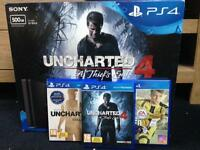 PlayStation 4 500GB, controller and 5 games