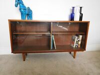 Retro 1960's Teak Bookcase Cabinet Sideboard - G Plan Danish Era