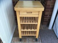 Butchers kitchen unit with drawer.