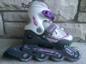 Like NEW Bladerunner Kid's Inline Skates (Rollerblades) Adjustable Size 11-1