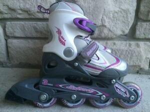 Like NEW Bladerunner Kid's Inine Skates Adjustable Size 11-1