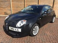 2011 (61) ALFA ROMEO MITO TURISMO JTDM 1.3 DIESEL, FULL SERVICE HISTORY, ONLY £30 PER YEAR ROAD TAX