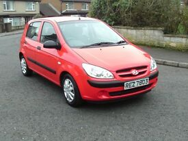 2008 Hyundai Getz 1.1 cheap insurance, easy run, full mot, genuine low miles