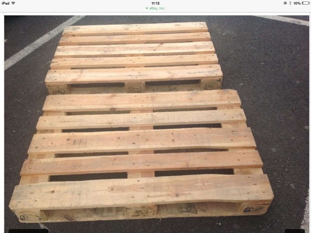 Pallets for salein Putney, LondonGumtree - Look we have very good condition euro pallets and standards pallets for sale, size of euro are 1200x800 and standards are 1200x1000, euro pallets are £7.50 and standards are £7.00,we can sand your pallets for a additional cost, we also varnish and...