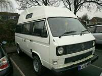 Vw camper t25 high top camper now with 12 months Mot