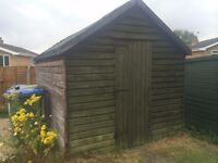 Large garden shed (7'x12', free, useable condition or ideal for wood)