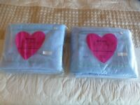 Two x Double Blue Cellular Blankets (Brentford Nylons). 70 x 90 BOTH in the original bags.