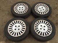 """Citroen c1 c2 c3 Picasso 15"""" alloy wheels - excellent tyres"""