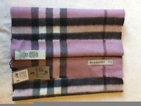 100% authentic burberry cashmere scarf